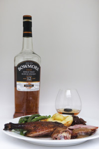Bowmore Enigma whisky for Christmas lunch