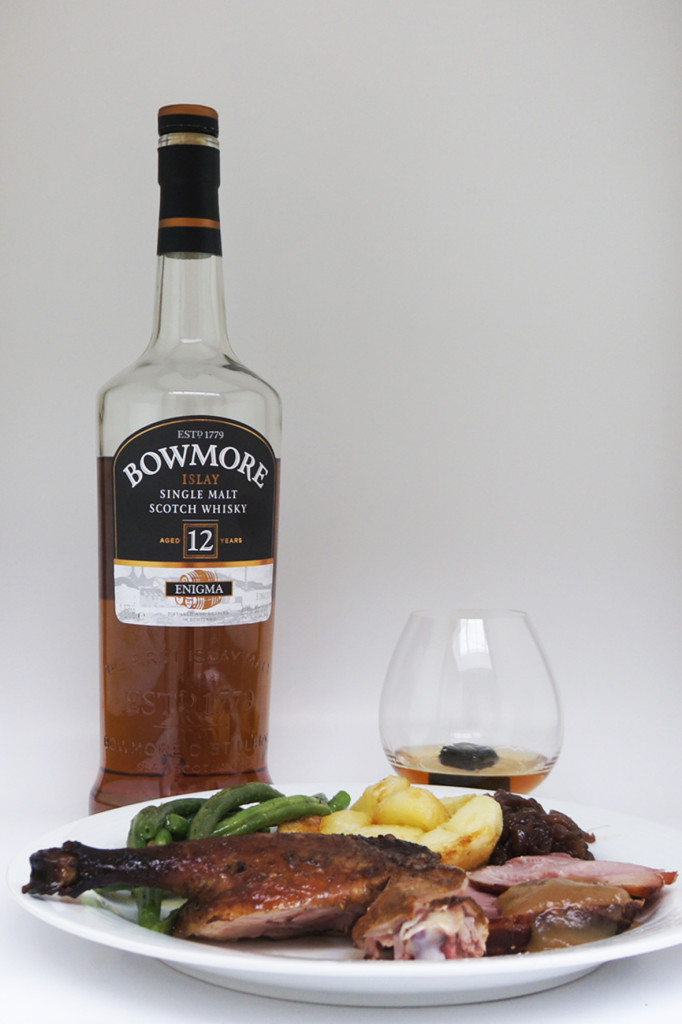 Bowmore Enigma whisky for christmas day lunch