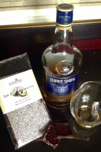 whisky chocolate pairing Three ships single malt and coconut lime