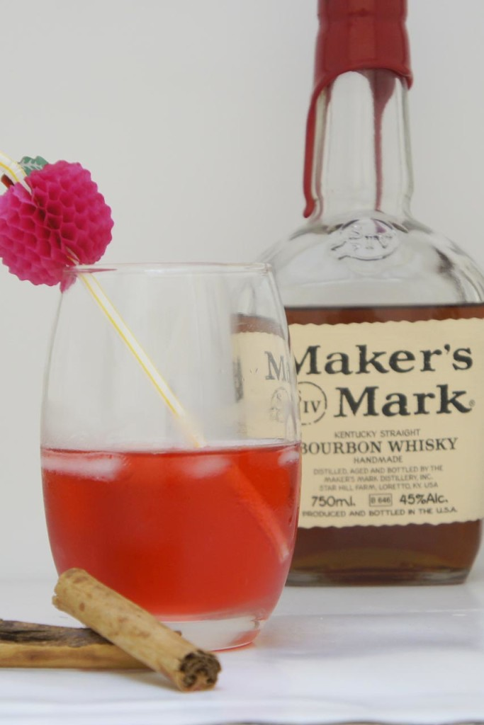 Valentine's Day cocktail - Makers Mark bourbon