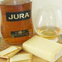 Jura 10 yo Origin Whisky and Comte Cheese pairing