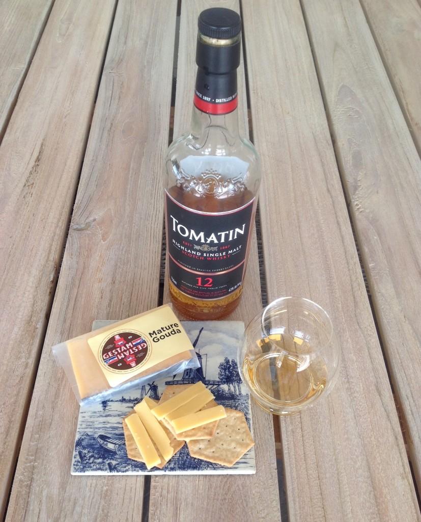 Tomatin 12 yo whisky & Mature Gouda Pairing