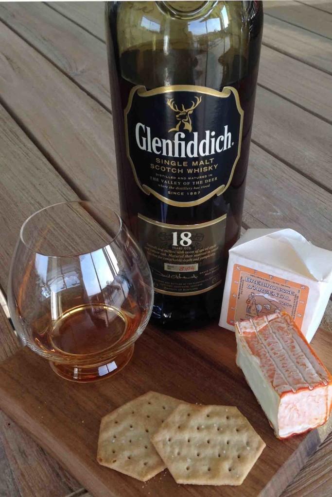Glenfiddich 18yo and Brebirousse d'Argental cheese pairing