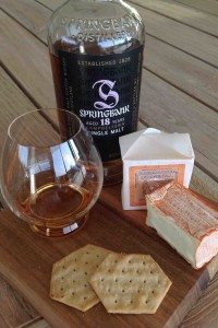 Springbank 18yo and Brebirousse d'Argental cheese pairing