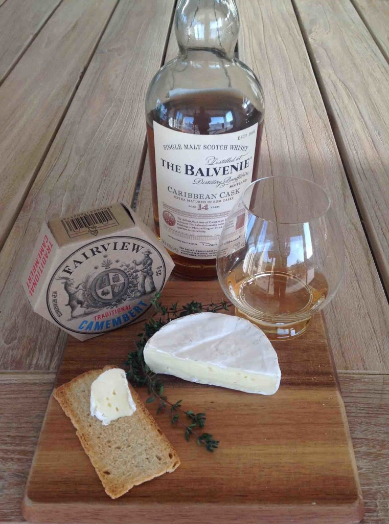 Whisky and Camembert cheese pairing Balvenie