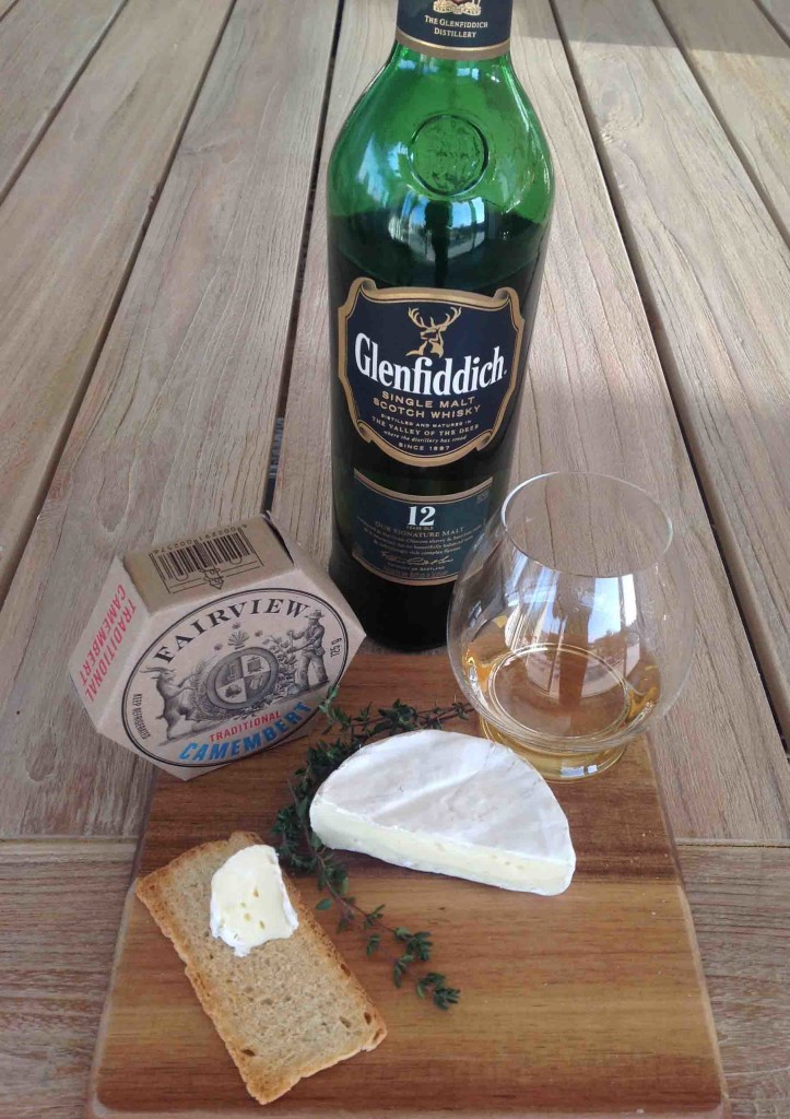 Whisky and Camembert cheese pairing glenfiddich 12 yo