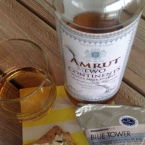 Whisky and Blue Tower Cheese pairing Amrut Two Continents