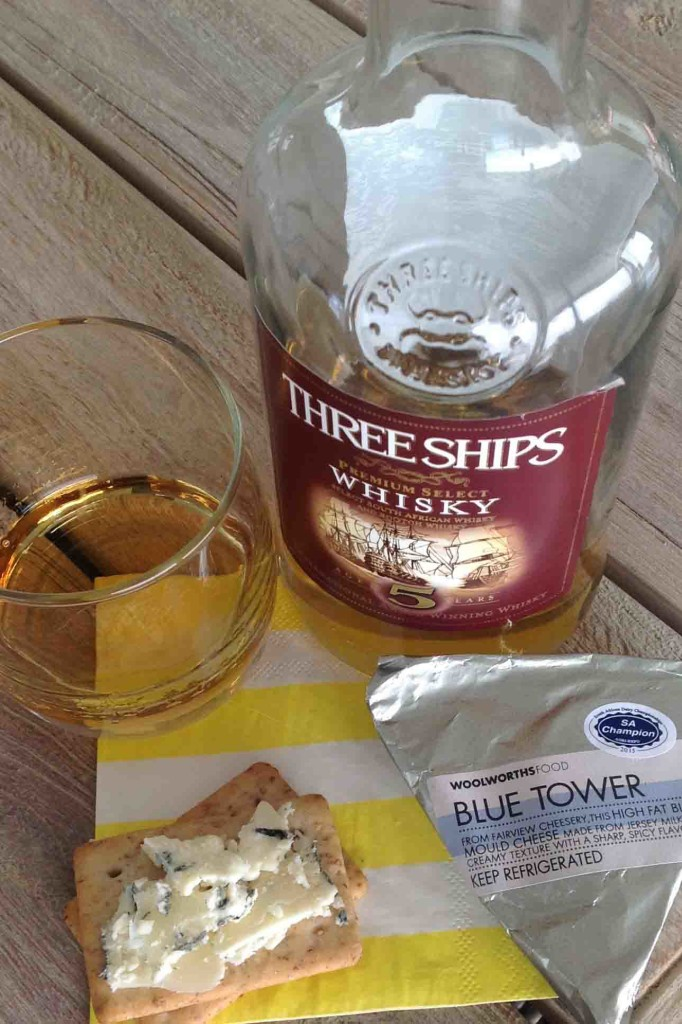 blue tower cheese Three Ships 5yo whisky cheese pairing