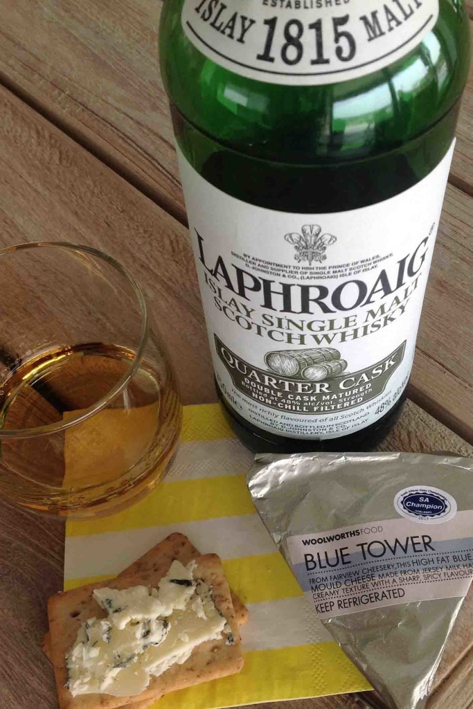 Blue Tower cheese whisky pairing Laphroaig Quarter Cask