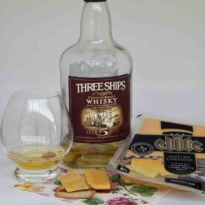 Whisky and Clover cheese pairing Three Ships 5 yo