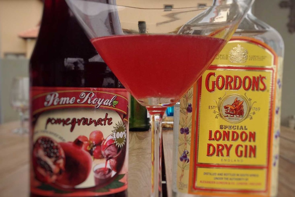 Valentine's DAy pomogranate martini