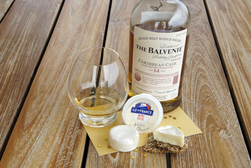 Brie cheese Balvenie Caribbean Cask single malt whisky pairing