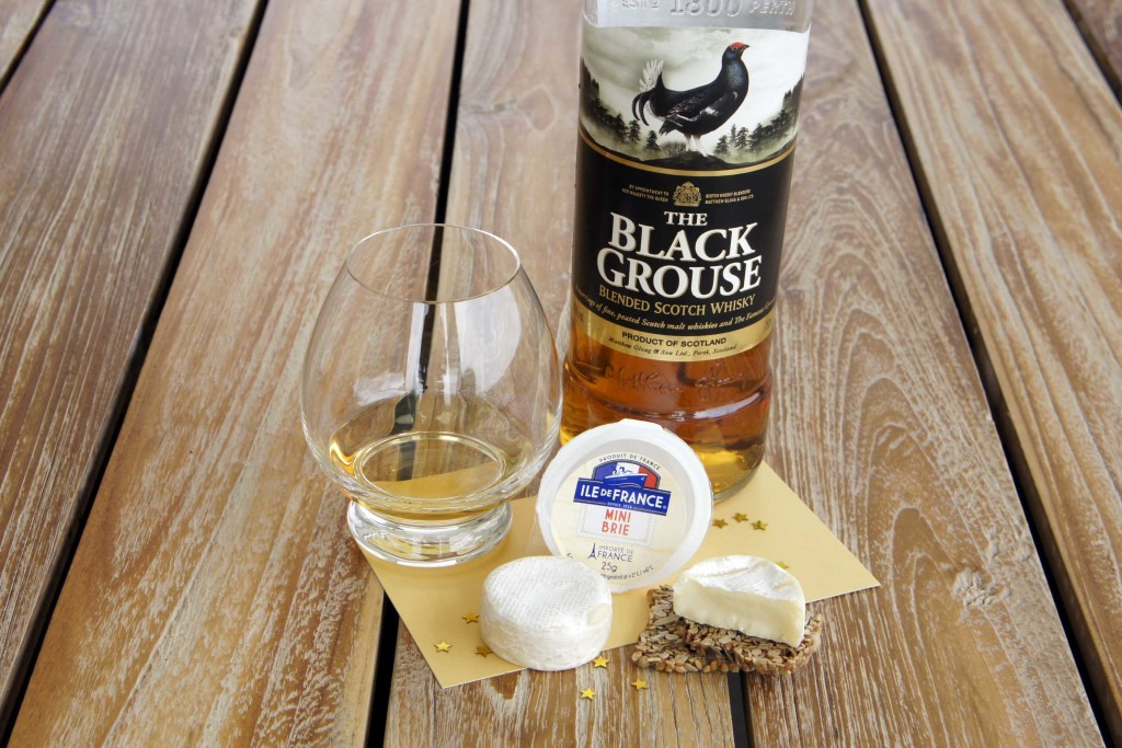 Brie cheese Black Grouse blended whisky pairing