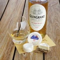 Whisky and Brie Cheese pairing Glen Grant Majors Reserve