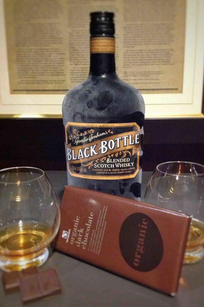 whisky chocolate pairings Black bottle NYE2016