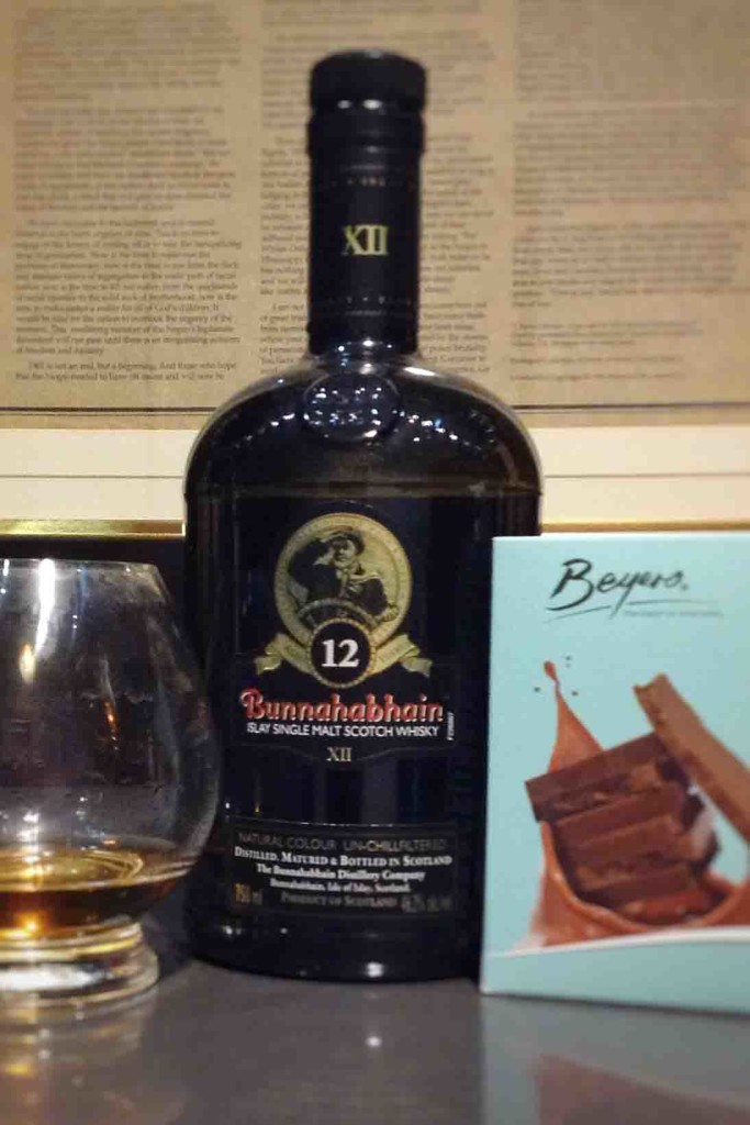 whisky chocolate pairings Bunnahabhain 12 yo NYE2016