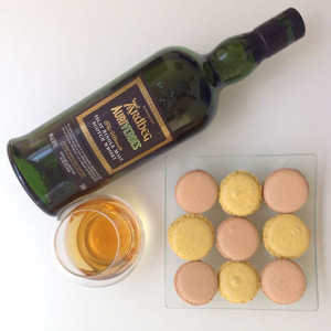 Ardbeg auriverdes and macarons