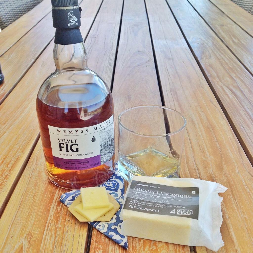 Lancashire Whisky pairing Wemyss Velvet Fig