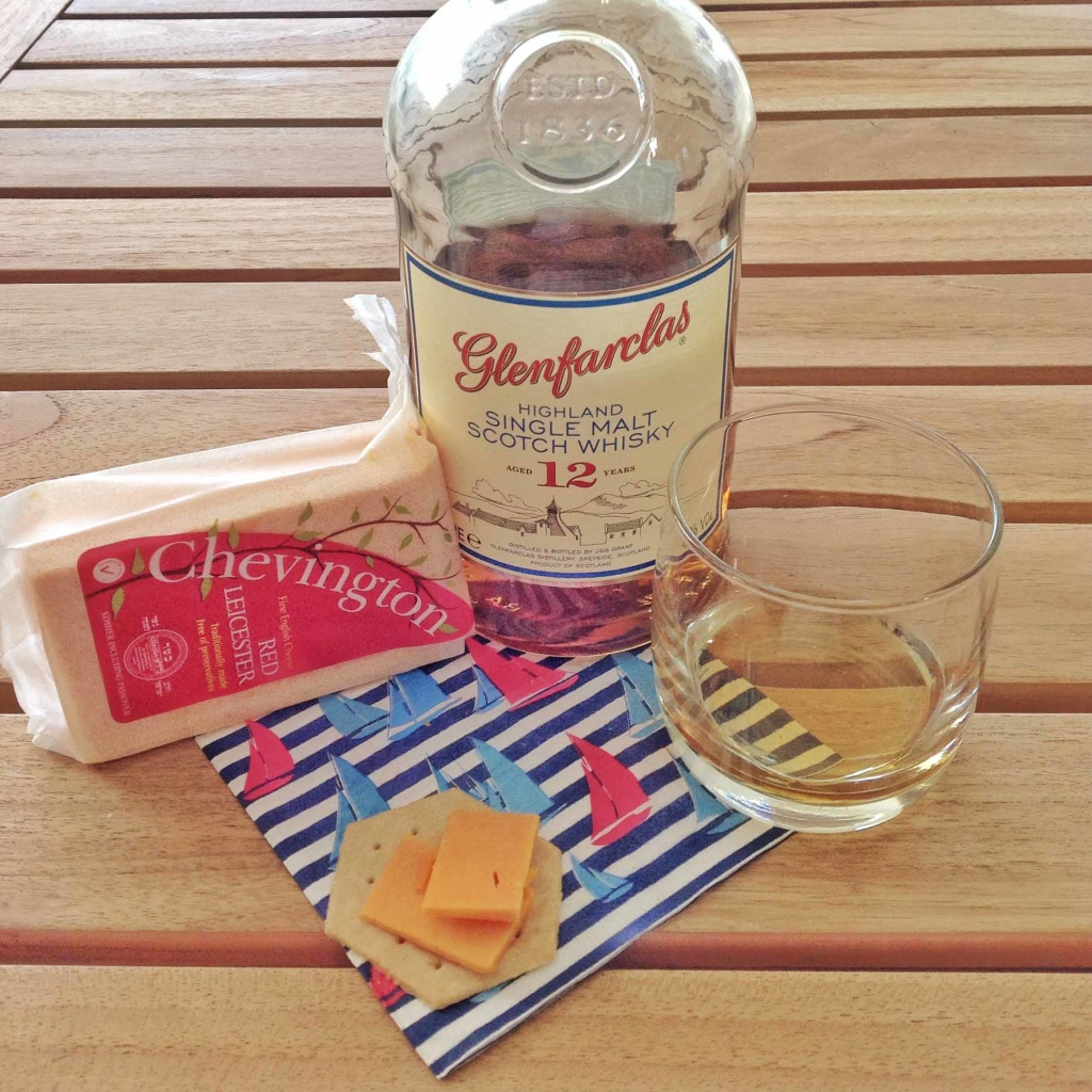 Red leicester and cheese pairing Glenfarclas 12 yo