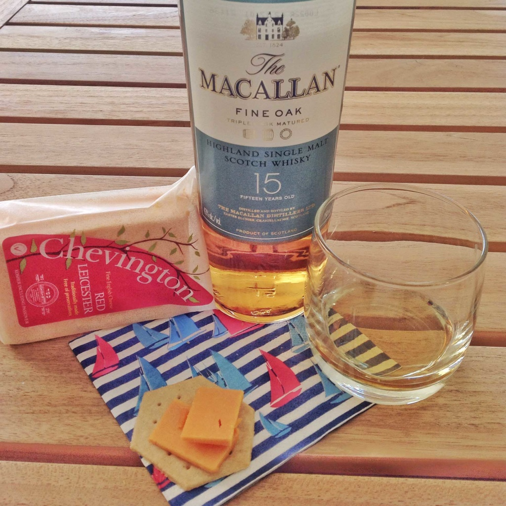Red Leicester and cheese pairing Macallan 15 yo