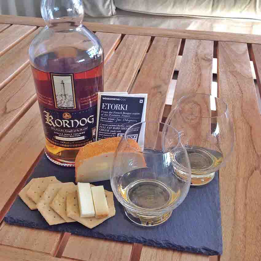 Etorki cheese whisky pairing Kornog