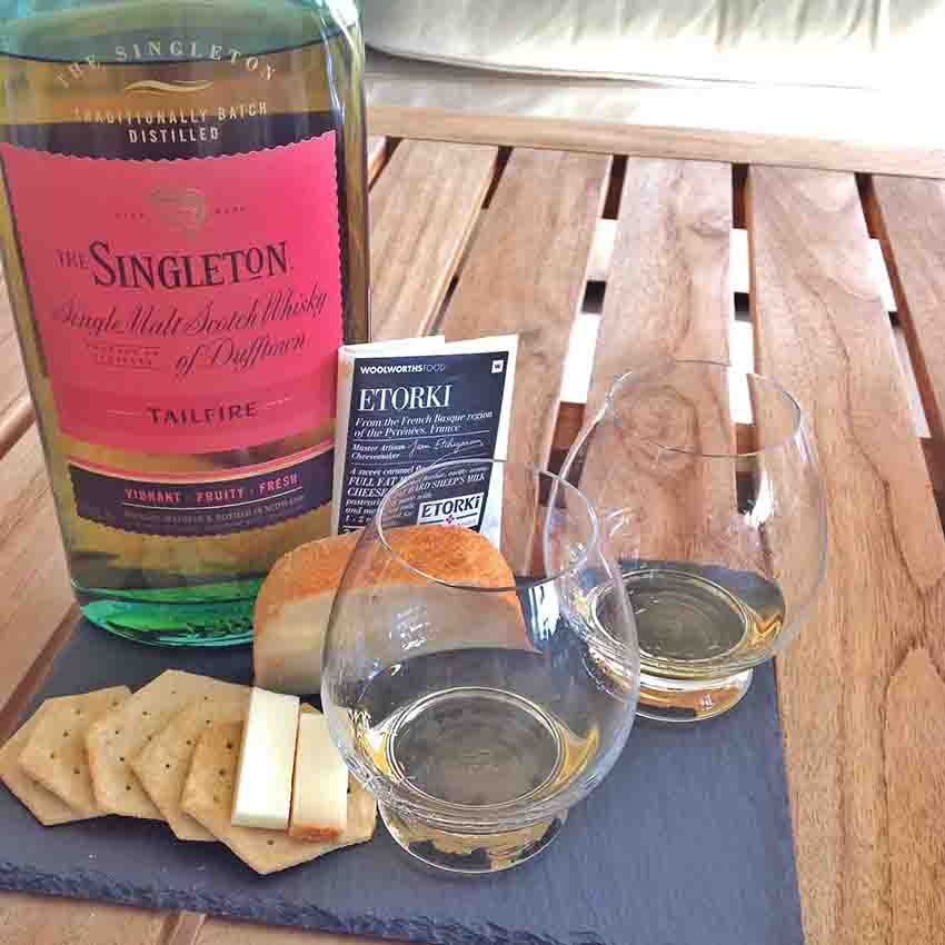 Etorki cheese whisky pairing Singleton Tailfire