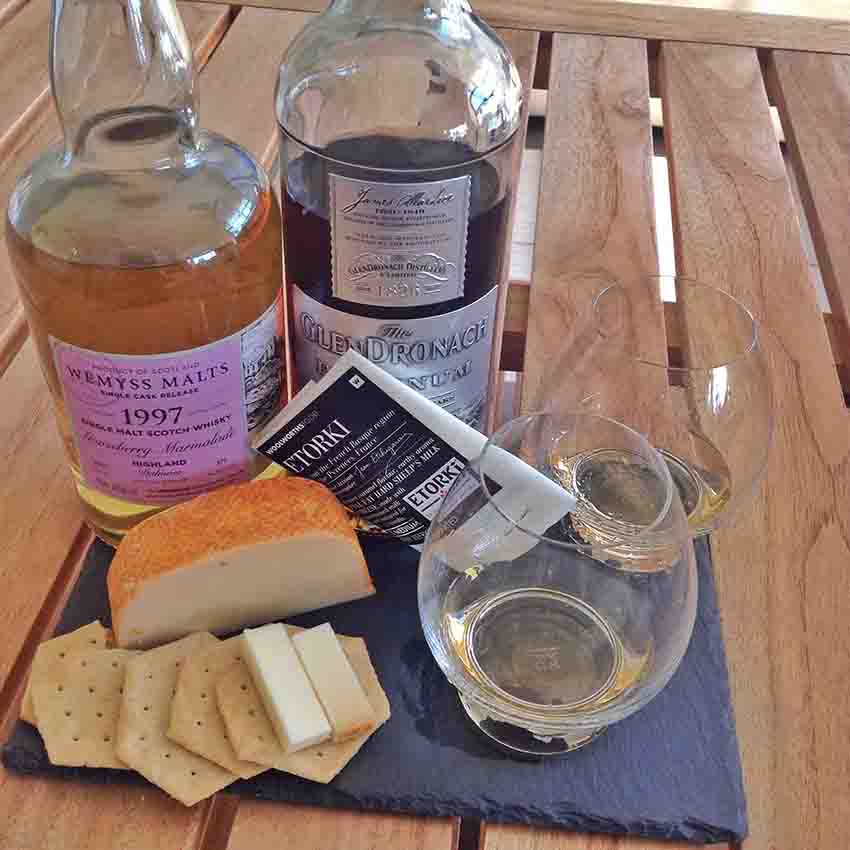 Etorki cheese whisky pairing Wemyss