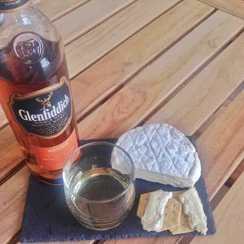 Roydon Camembert Cheese whisky pairing Glenfiddich
