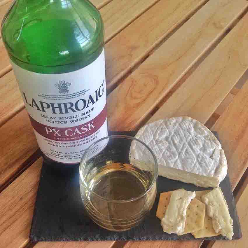 Roydon Camembert Cheese whisky pairing Laphroaig PX