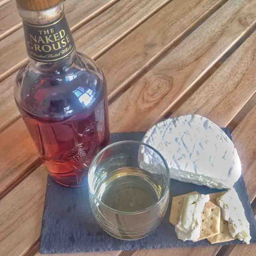 Roydon Camembert Cheese whisky pairing Naked Grouse