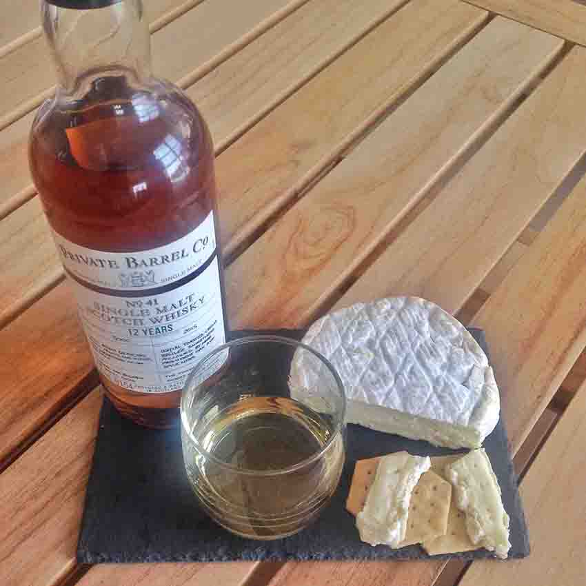 Roydon Camembert Cheese whisky pairing Checkers Private Barrel Co No 41