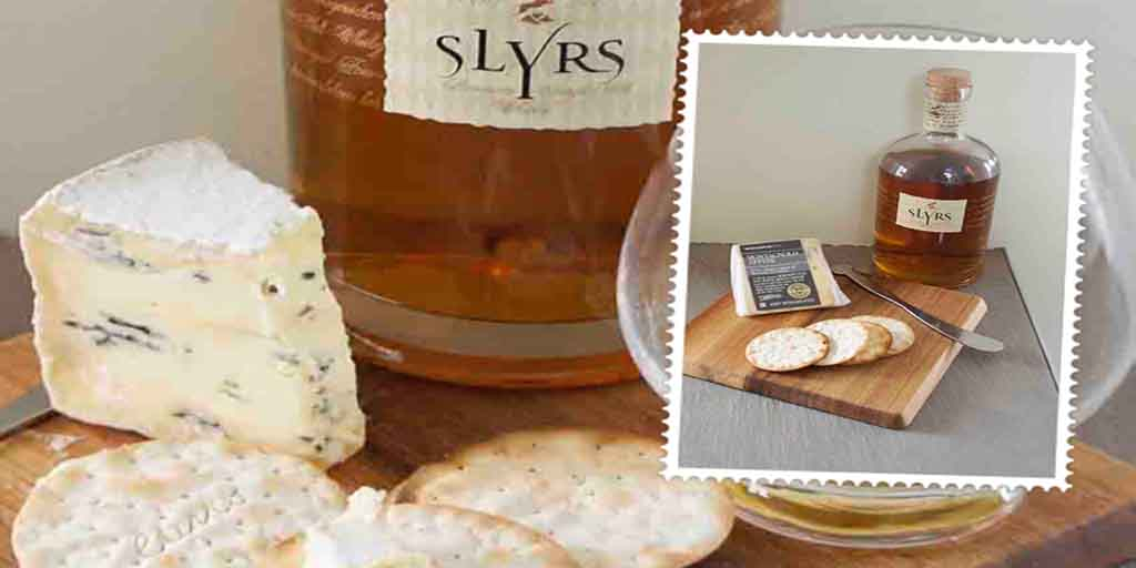 Slyrs Bavarian whisky and and Montagnolo Affine cheese pairing