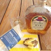 Whisky and Royal Ashton Cheese pairing Crown Royal Rye