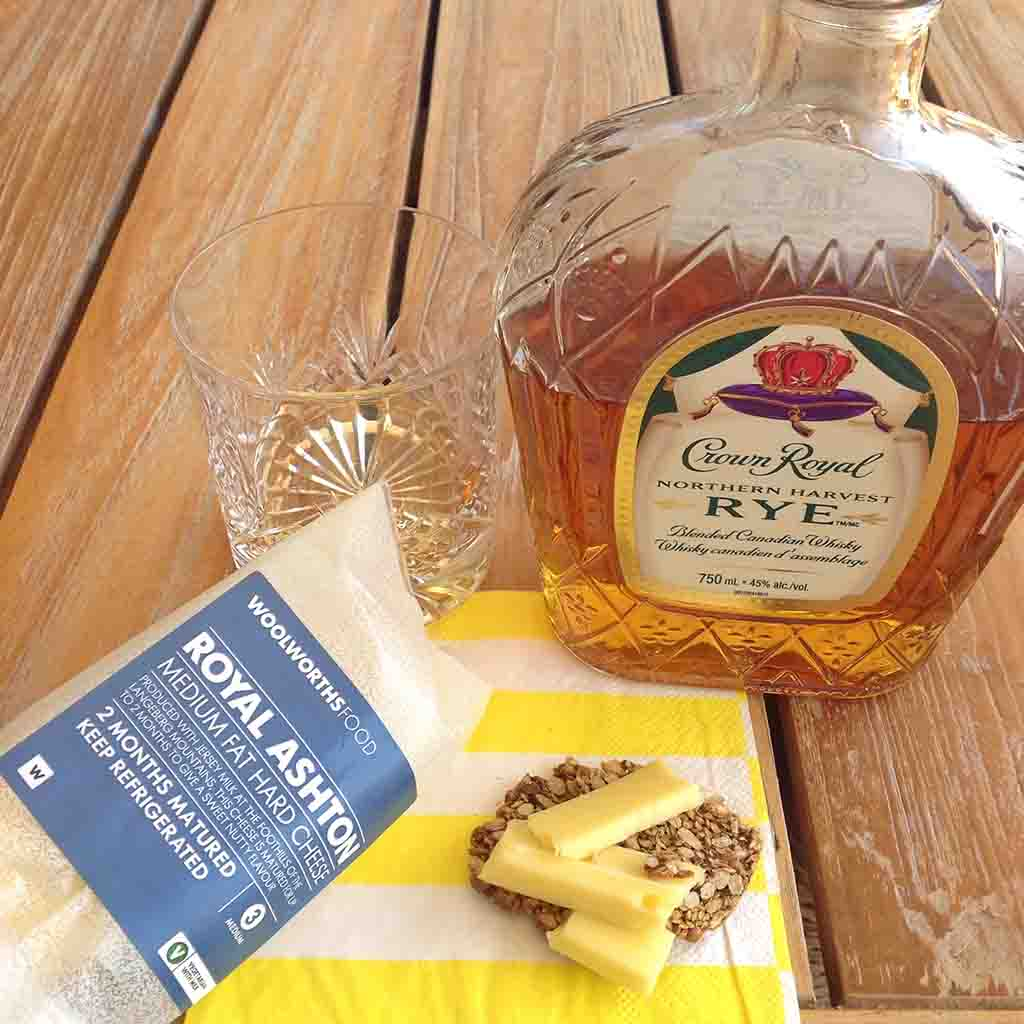Whisky and Royal Ashton Cheese pairing Crown Royal Rye