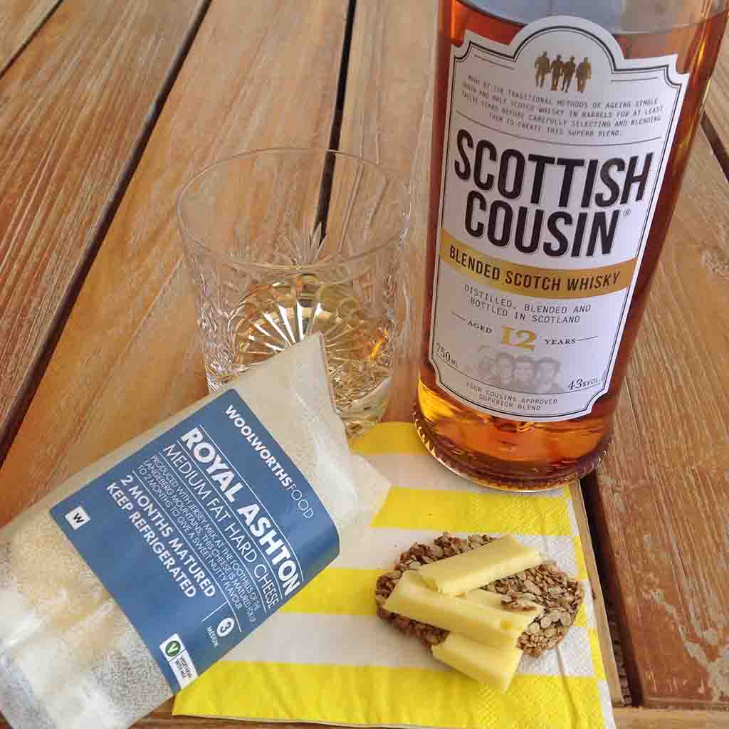 Whisky and Royal Ashton Cheese pairing Scottish Cousin 12 yo blended whisky