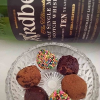 Ardbeg 10 yo single malt whisky peated truffles