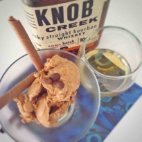 National Coffee Ice cream Day with Bourbon