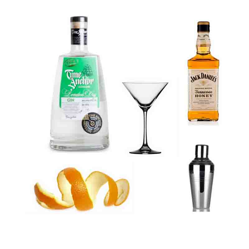 New Year gin Martini cocktail ingredients