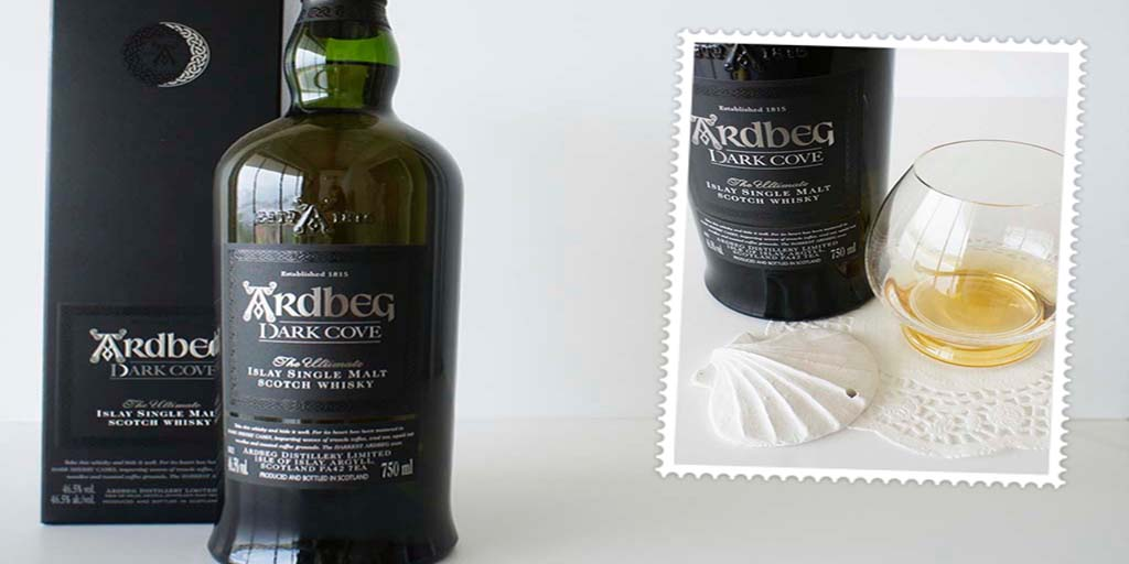 Ardbeg dark cove whisky header