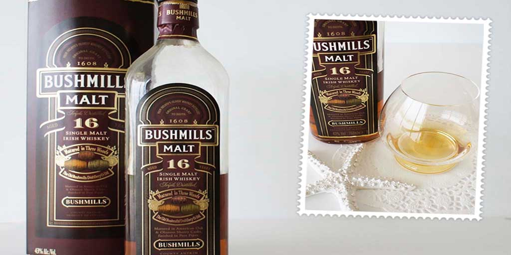 Bushmills 16 yo whiskey header