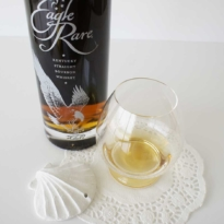 Eagle Rare Kentucky Bourbon whiskey with glass