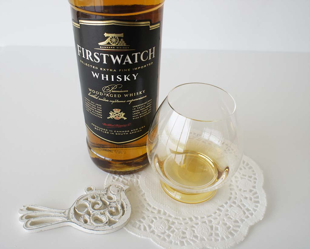 FirstWatch blended whisky with glass