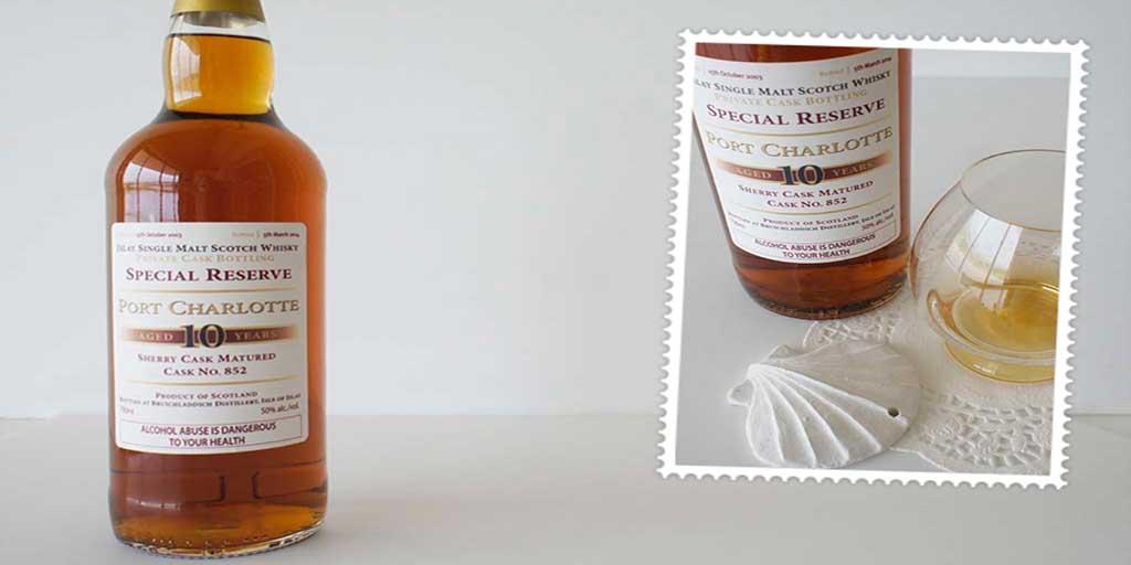 Port Charlotte special reserve 10 yo whisky header