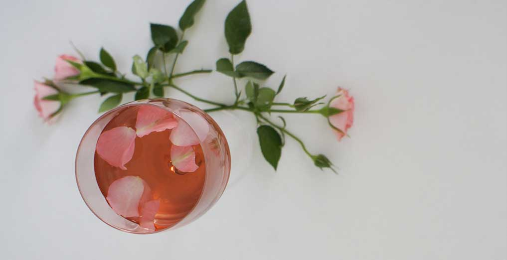 Rose petal kiss cocktail header