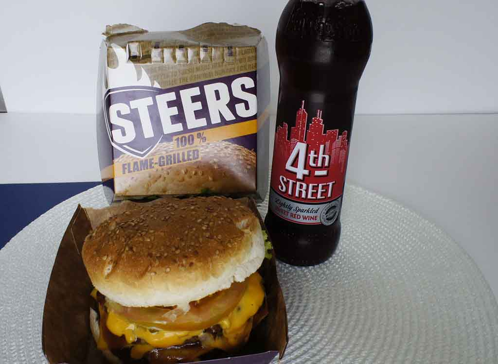 Great drinks to pair with a Steers burger 4th Street sparkling red wine