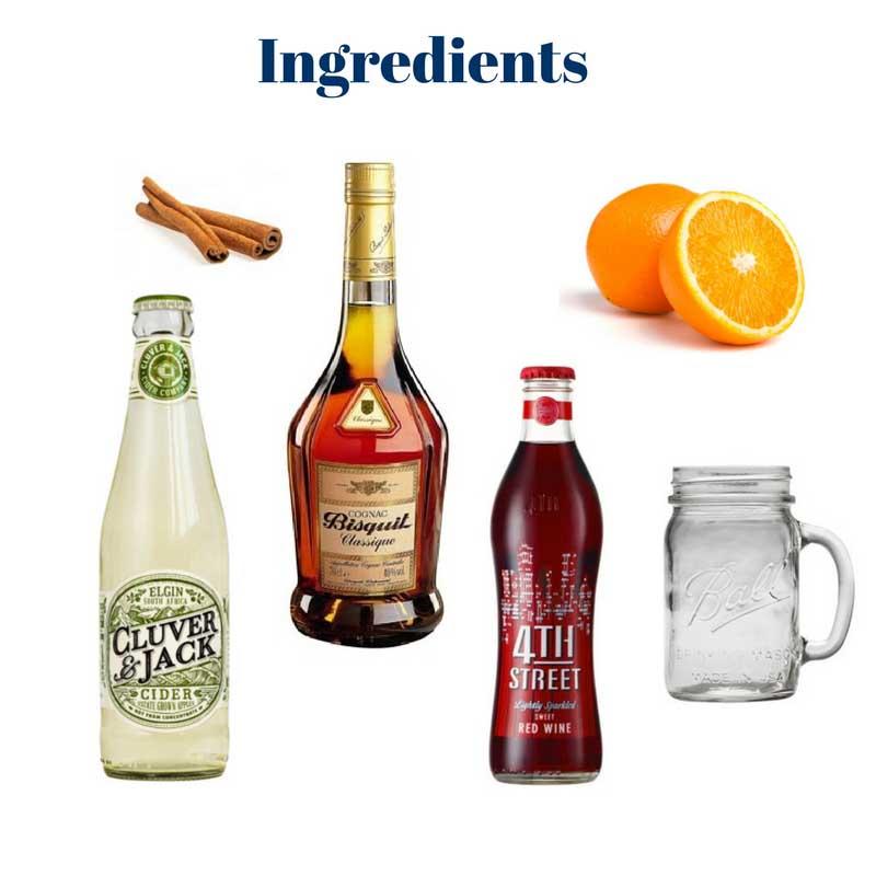 Apple cider cognac cocktail ingredients