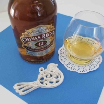 Chivas Regal 12 yo blended whisky with glass