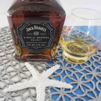 Jack Daniel's Single Barrel Tennessee Whiskey with glass