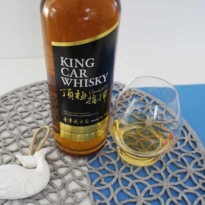 King Car whisky Kavalan with glass
