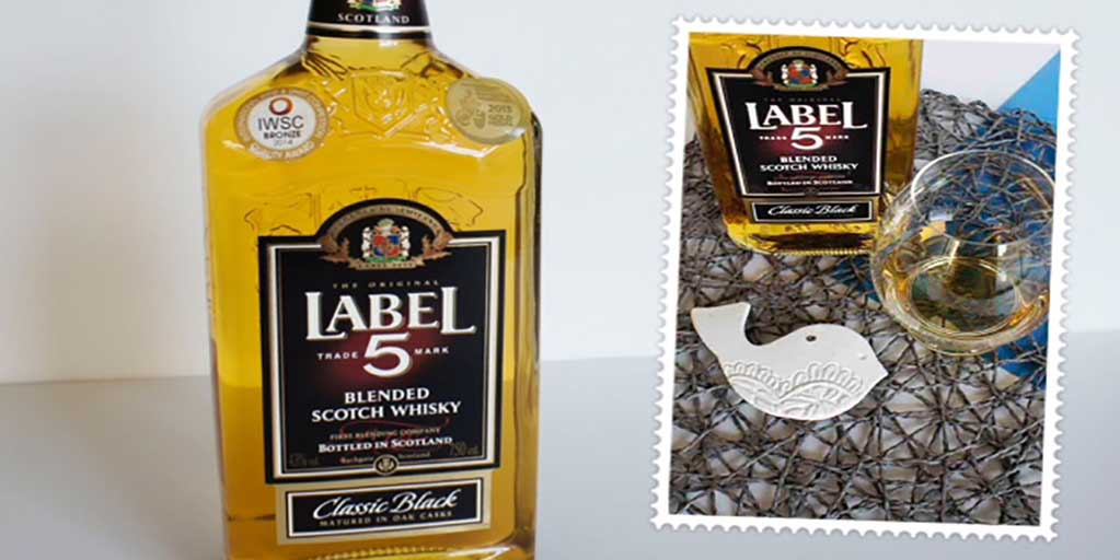 Label 5 blended scotch Whisky Header